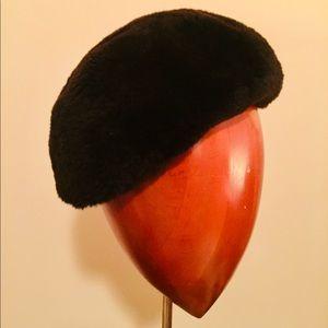 Vintage 1960s Miss Alice fur pillbox slouch hat